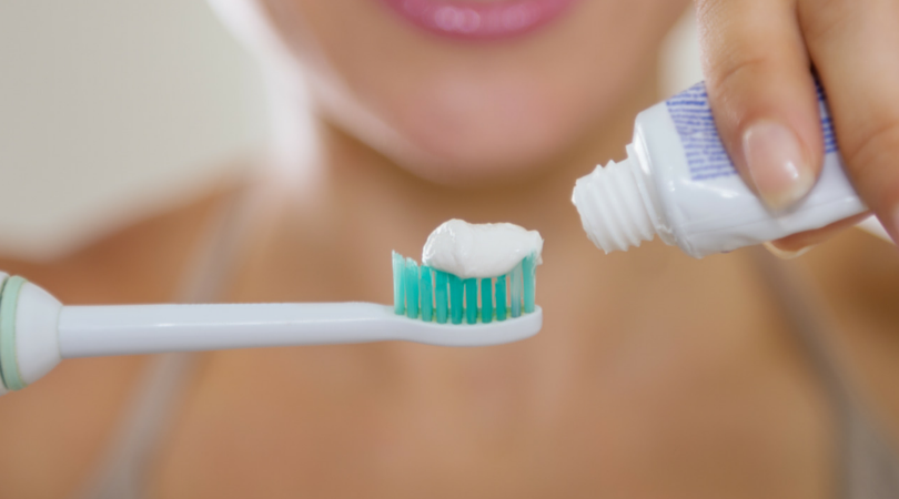 toothpaste with plastic microbeads